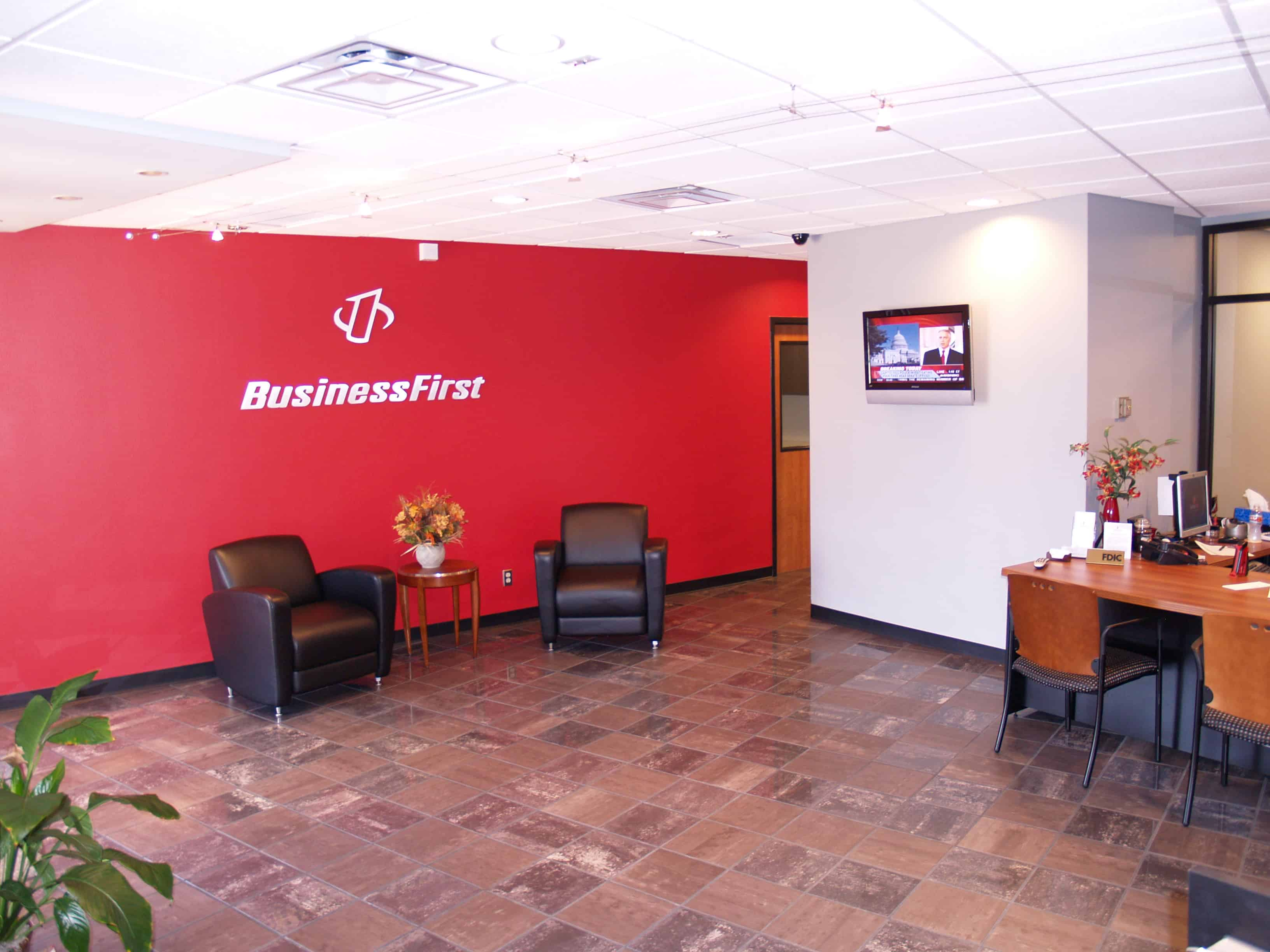 Business First Bank Lobby