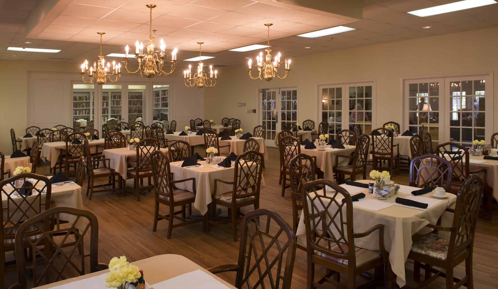 The Glen Retirement System Dining Areas